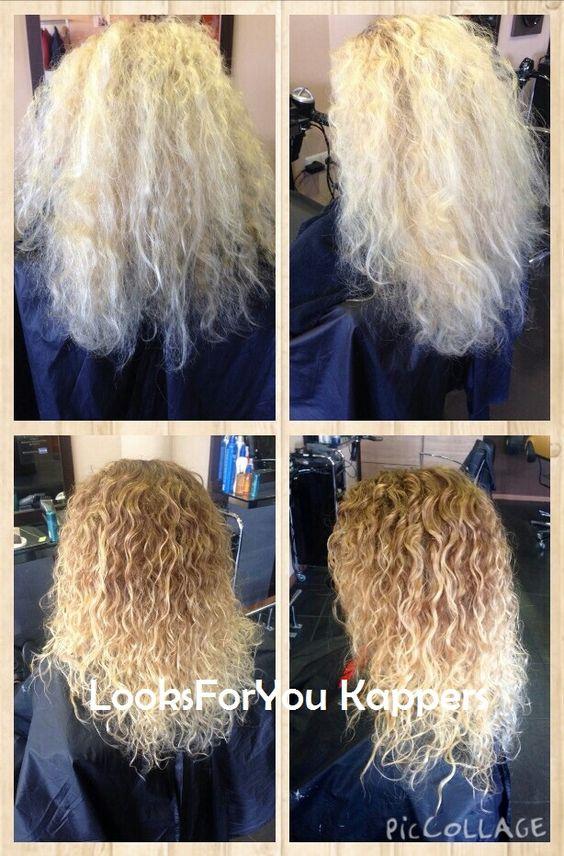 Balayage Krullend Haar Blond