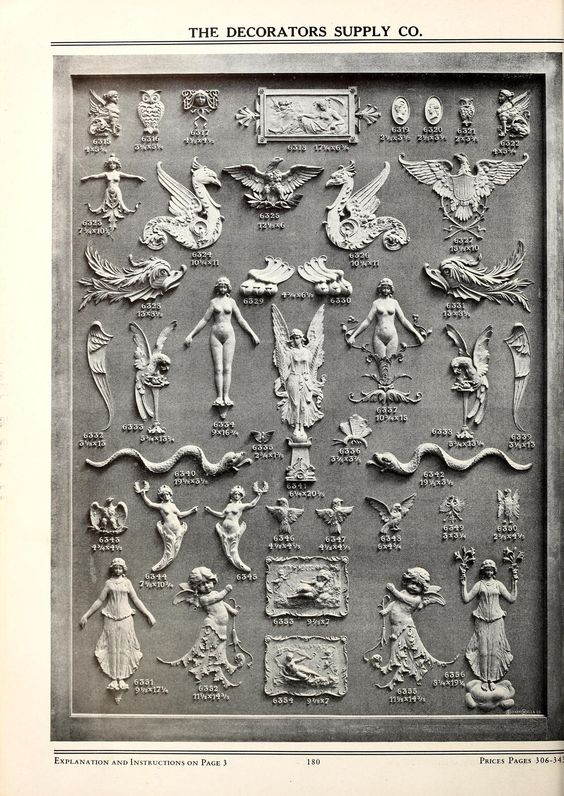 Illustrated catalogue of period ornaments