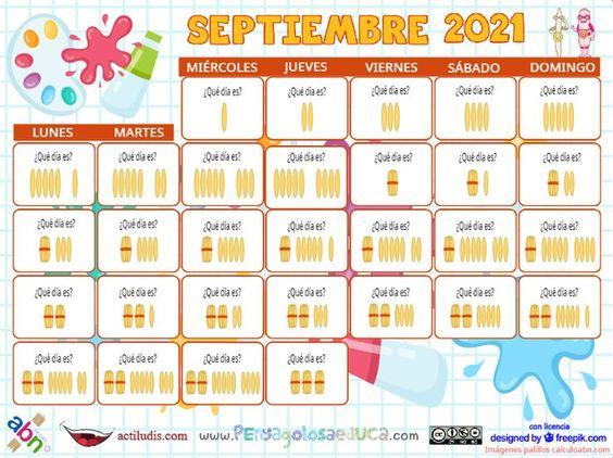 Calendario palillos infantil ABN – Septiembre 2021