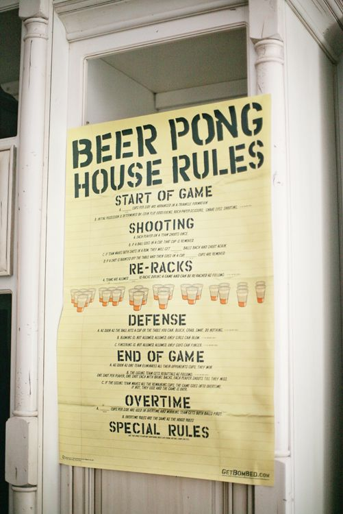 the rules showers the babys beer pong i had baby showers for the the