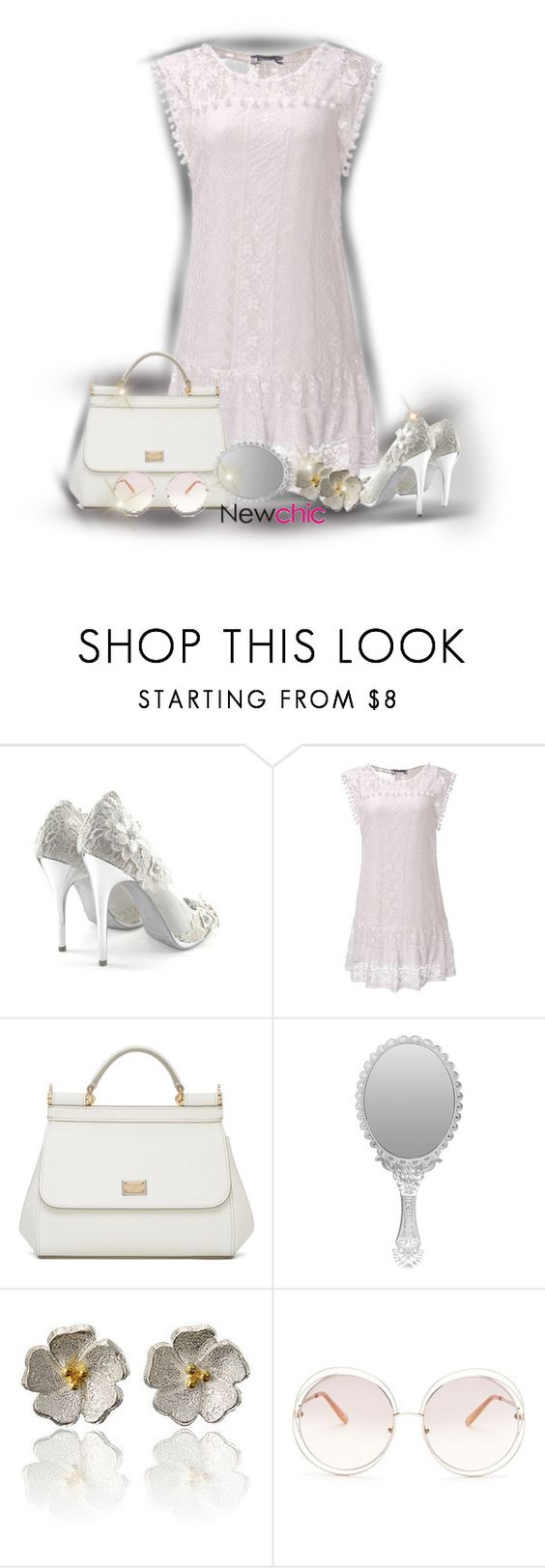 """Newchic"" by sarahguo ❤ liked on Polyvore featuring Dolce&Gabbana and Chloé"