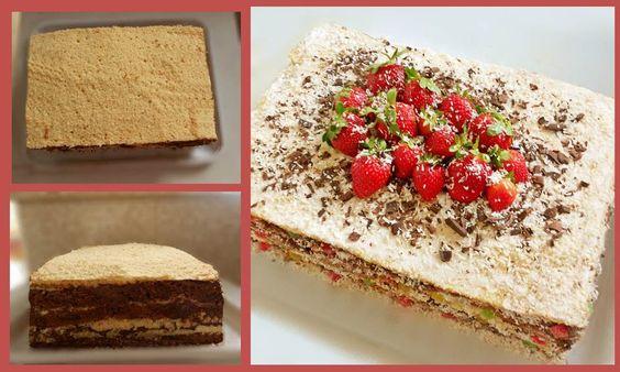 Receita de Bolo Recheado de Chocolate Preto e Beijinho