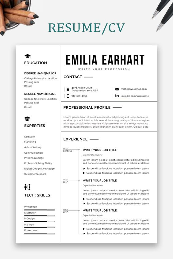 Resume Design Template Modern Resume Template Word Free Download Professional Resume Template Microsoft Word Design In 2021 Resume Design Template Resume Template Word Resume Design Creative