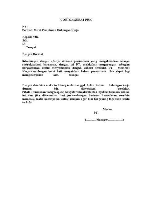 Surat Pemutusan Kontrak : surat, pemutusan, kontrak, Contoh, Surat, Pemutusan, Hubungan, Kerja, (PHK), Benar, Hubungan,, Surat,