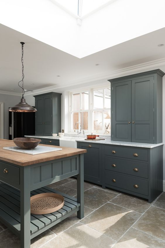 The Hampton Court Kitchen by deVOL painted in a beautiful bespoke paint colour