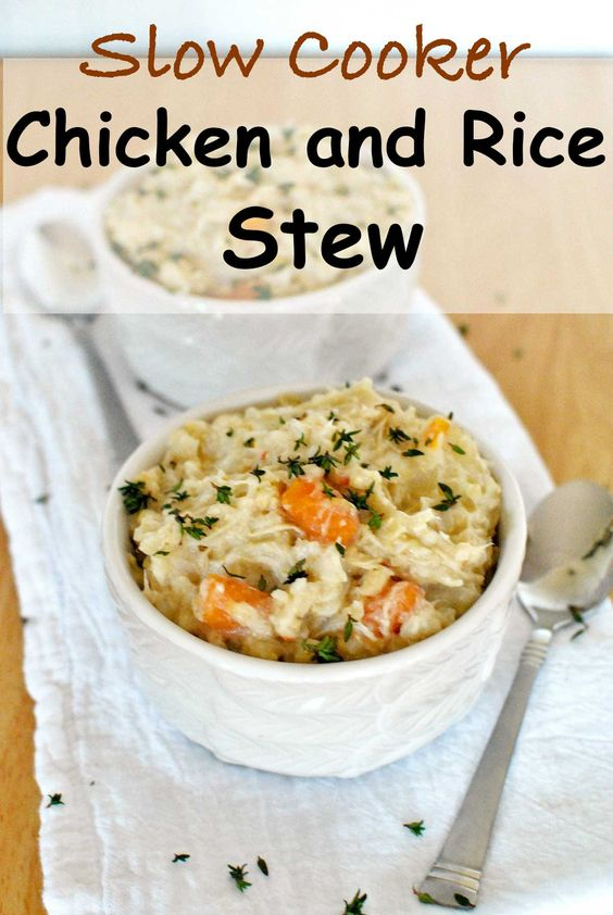 Slow Cooker Chicken and Rice Stew | Recipe | Slow Cooker Chicken, Stew ...