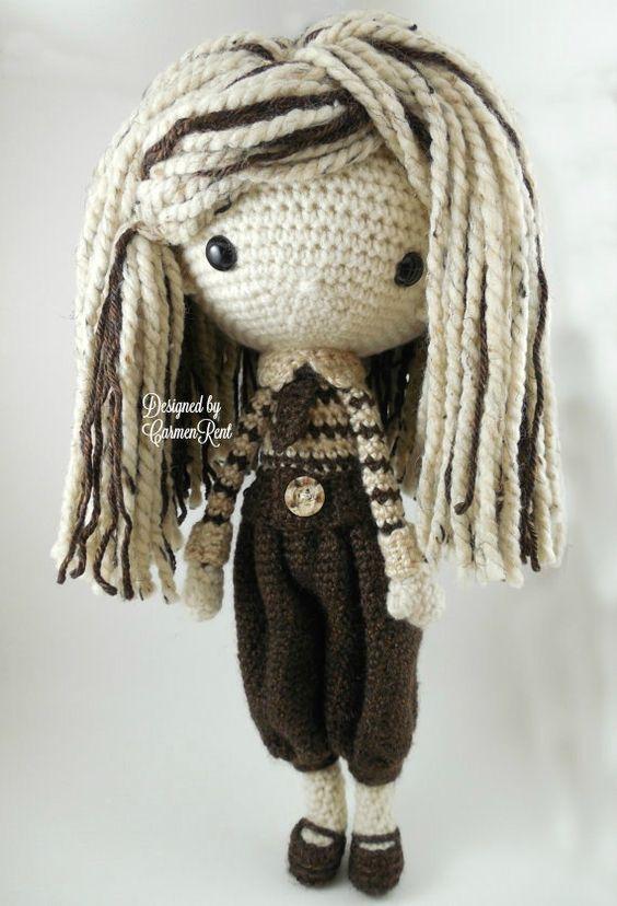 Luisa Amigurumi Doll Crochet Pattern PDF von CarmenRent auf Etsy
