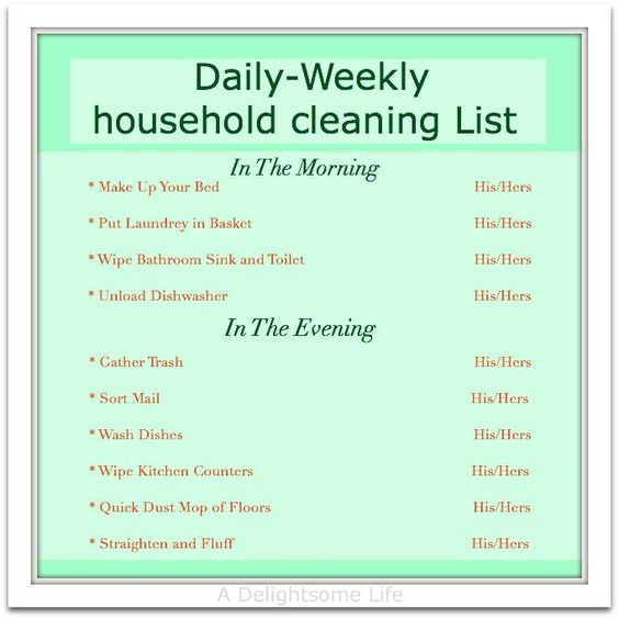 household chore schedule other households and the o 39 jays. Black Bedroom Furniture Sets. Home Design Ideas