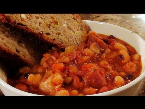 Check out this yummy recipe for Provencal Inspired Ham and Bean Stew for the Slow Cooker - recipe for a slow cooker
