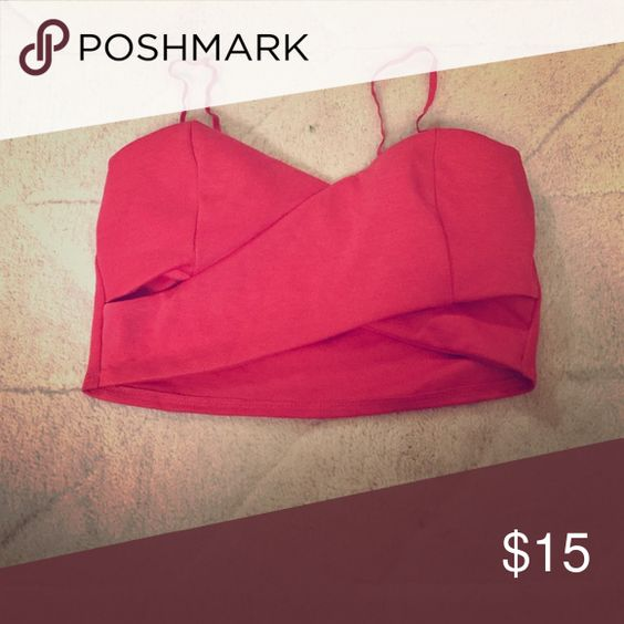 Fun midi top! Never been worn, crossover midi top.  Beautiful color! Tobi Tops Crop Tops