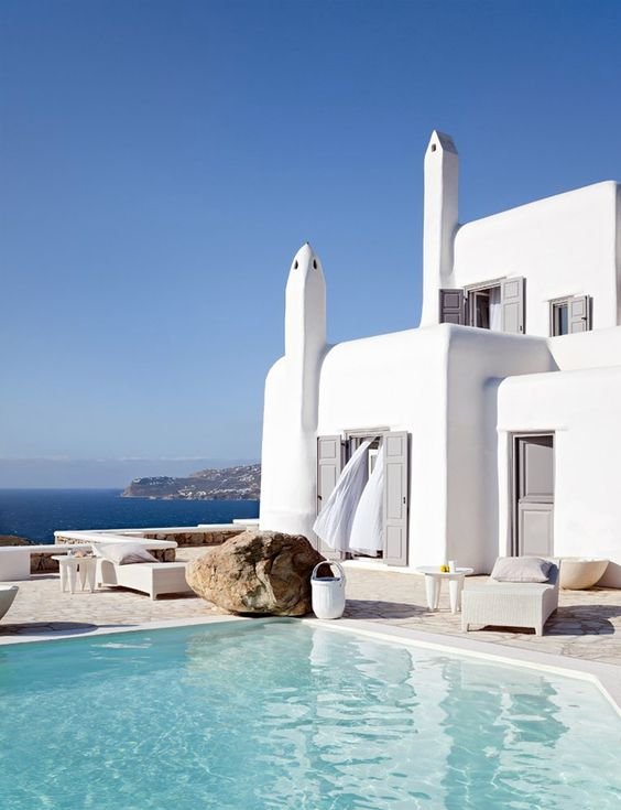 White summer retreat in Greece