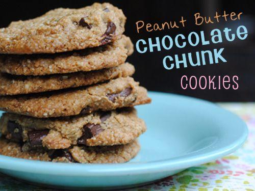 Peanut Butter Chocolate Chunk Cookies | Paleo-Friendly | Recipe ...