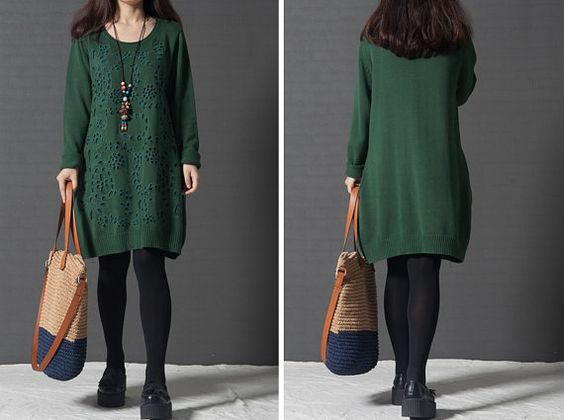 WSS022 / fashionable hollow sweater knitting plus size by WANGSS