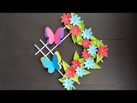 Diy How To Make Beautiful Wall Hanging With Colour Paper