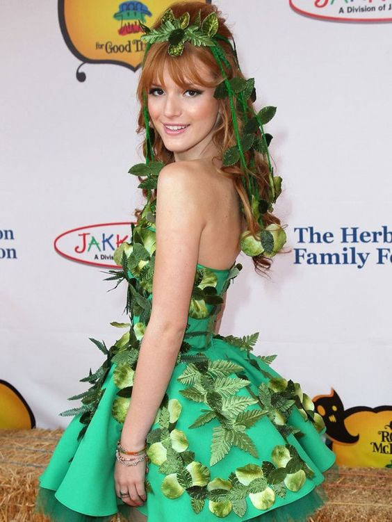 Bella Thorne wears a Poison Ivy Costume