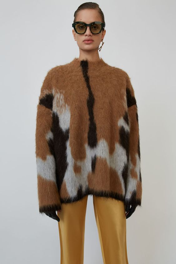 Acne Studios - Oversized print sweater Brown/multi