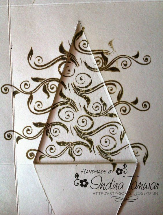 Use any stamp to make a Christmas tree...super idea By Indira