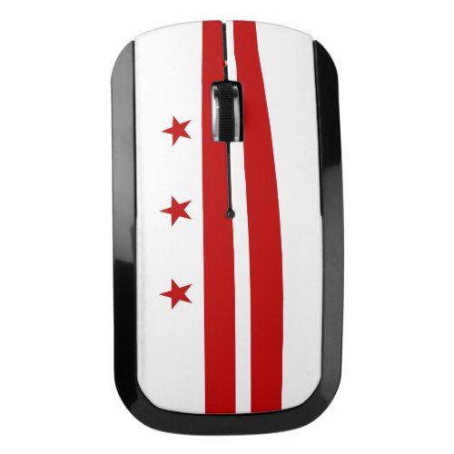 Patriotic Washington Dc State Flag Wireless Mouse Zazzle Com Washington Dc State Washington Dc State Flags