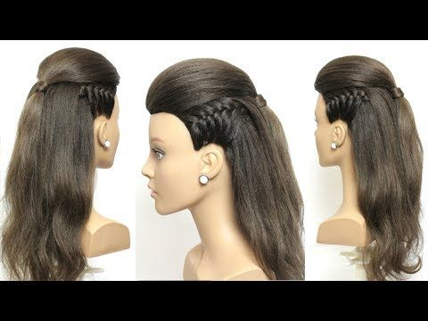 Easy Hairstyle With Braid For Long Hair Tutorial Youtube Easy Hairstyles Long Hair Tutorial Long Hair Girl