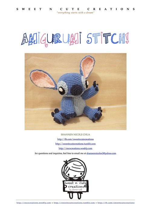 Amigurumi Stitch Free Pattern : Pinterest De idee?ncatalogus voor iedereen