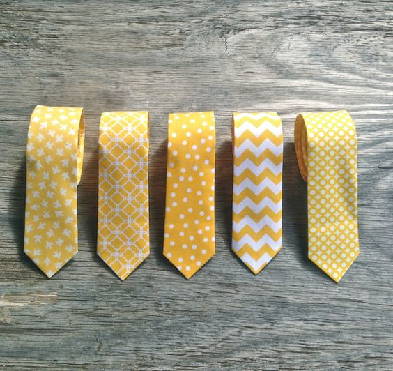 love the idea of having different patterns in the same color for the guys ties.: