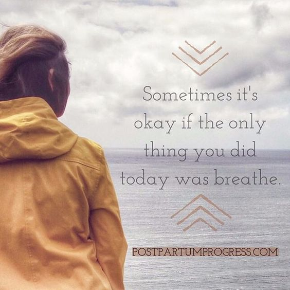 Sometimes it's okay if the only thing you did today was breathe. Honestly. Don't be too hard on yourself, mama. Be gentle. #postpartumdepression #ppd #ppa #postpartumprogress #PMADs #mentalhealth #warriormom #warriormoms #youcandothis #justbreathe