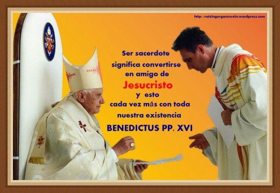 Ser sacerdote significa convertirse en amigo de JESUCRISTO y esto cada vez más con toda nuestra existencia
