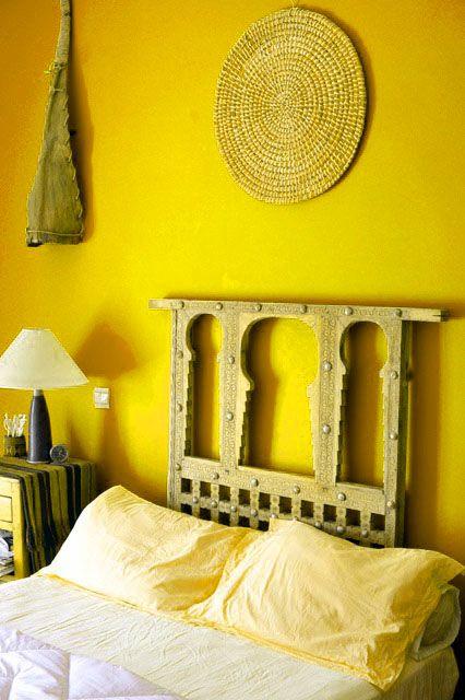 Bright yellow bedroom