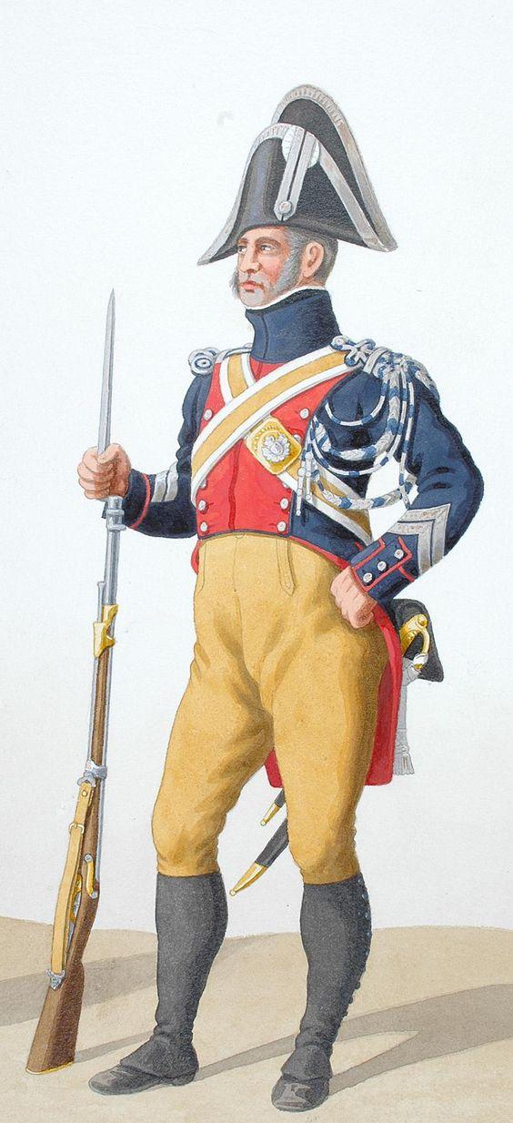 1819. Gendarmerie Royale. Trompette, Maréchal des Logis à Pied.