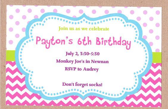 Polka Dots and Chevron Birthday Invite  www.mypapercrafts.etsy.com