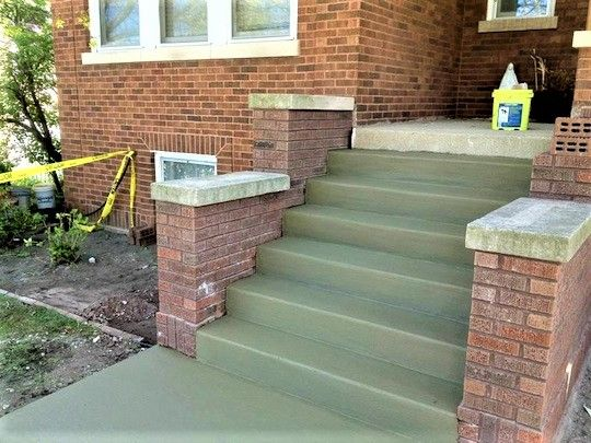 These Are The Steps I Have In Mind Brick Sides One Level Only With Concrete Steps Brick Masonry Brick Steps Brick Siding