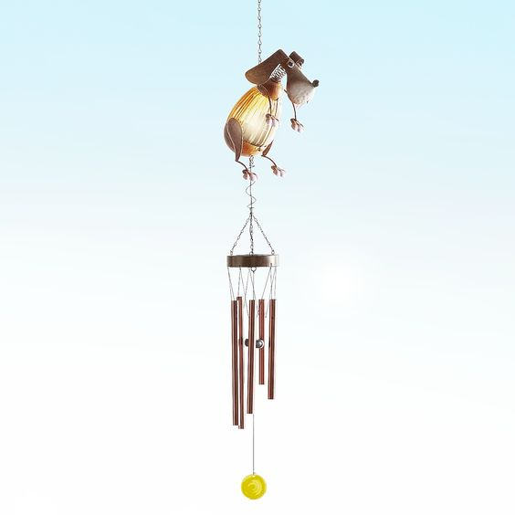 Solar Powered LED Wind Chime Wind Spinner Windchime Outdoor Garden Courtyard FTS