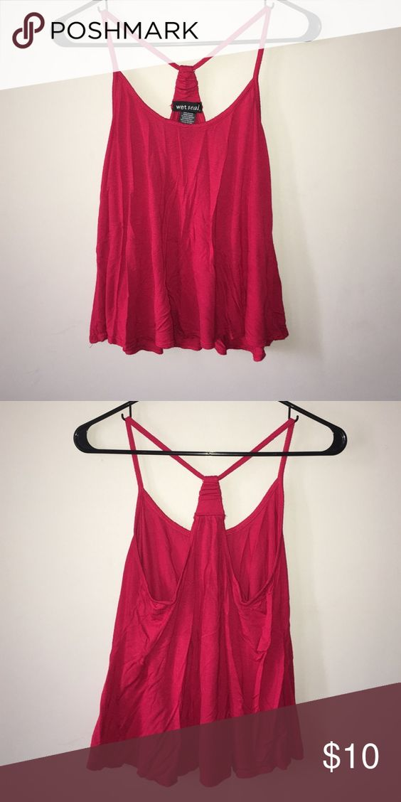 Red tank top This tank is spaghetti straps with a racer back. Wet Seal Tops Tank Tops