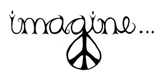 Imagine peace tattoo