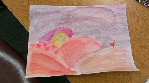 3rd grade art masterpiece inspired by H. W. Hansen lesson. We used watercolor pencils, which are really fun!