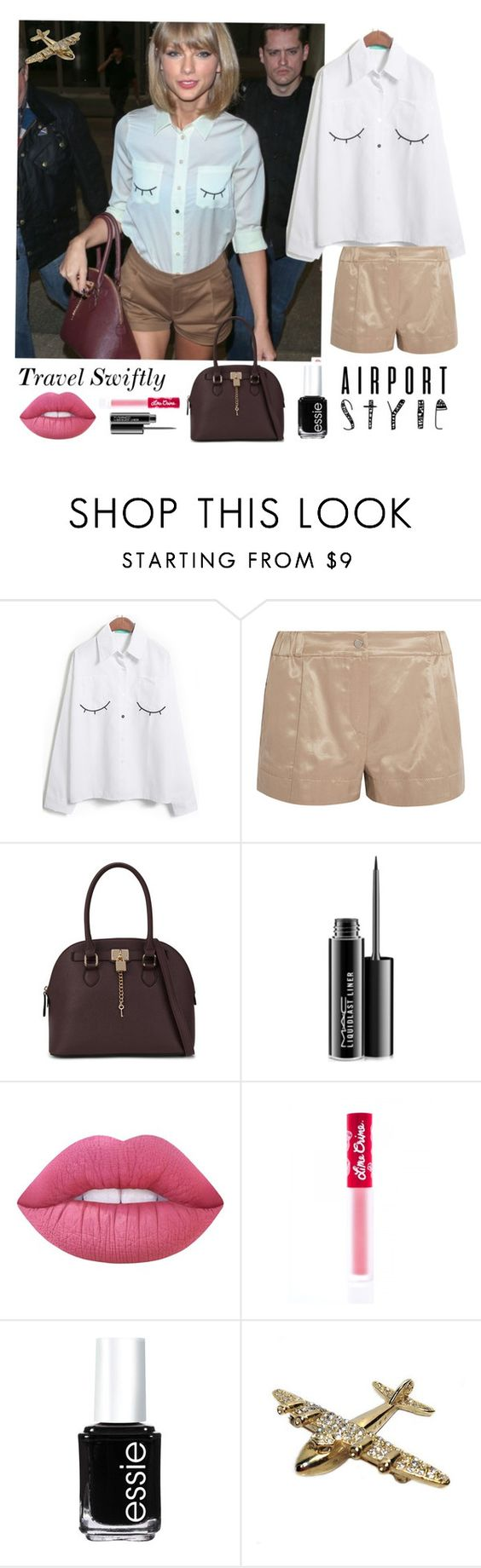 """Airport Style:Taylor Swift"" by sojazzed ❤ liked on Polyvore featuring Kenzo, ALDO, MAC Cosmetics, Lime Crime, Essie, taylorswift, Sheinside and airportstyle"