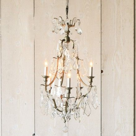 Stunning Silver Antique Chandelier $4,285.00 #thebellacottage #shabbychic #eloquence