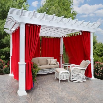 Add the Wow with Jockey Red Sunbrella Curtains Made in the USA ...