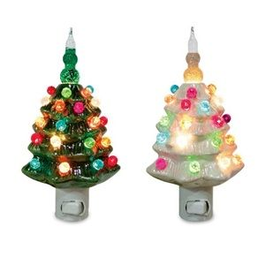 Ceramic Christmas Tree Bubble Night Light Ceramic Christmas Trees Christmas Tree Bubble Lights Christmas Night Light