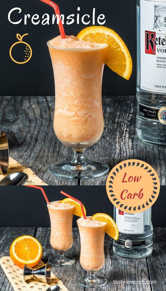Low Carb Orange Creamsicle Cocktail