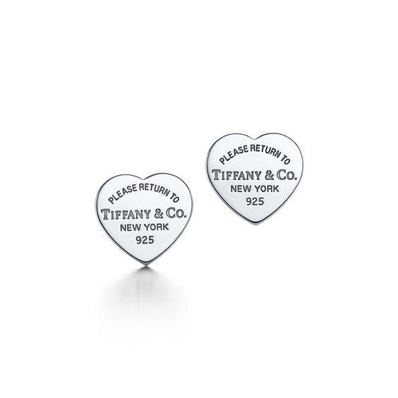 TIFFANY EARRINGS Silver Heart Shaped 75% off Authentic tiffany & company