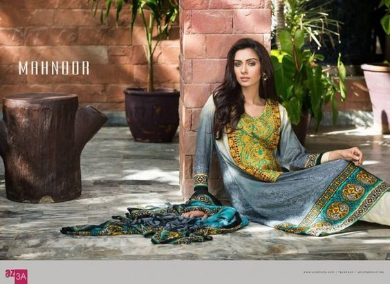 Take a regal venture with this apparel and get a chic look of Al-Zohaib Textile Mahnoor Eid Collection 2015that redefines contemporary vogue and blends intricate designs to give you a cool and charming edge.
