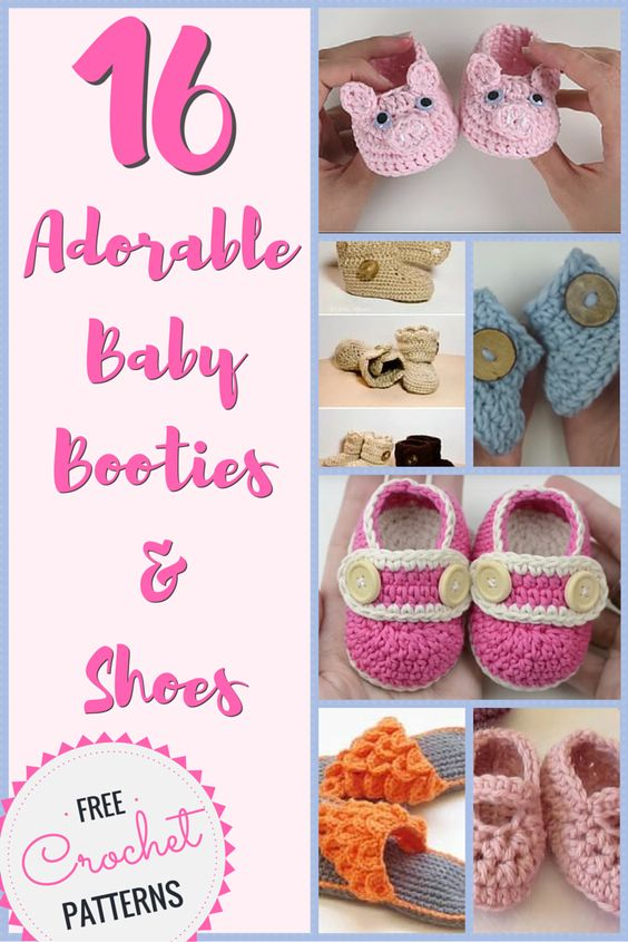 These baby booties are just soooo cute! Check out these 16 FREE CROCHET PATTERNS for baby booties and shoes.: