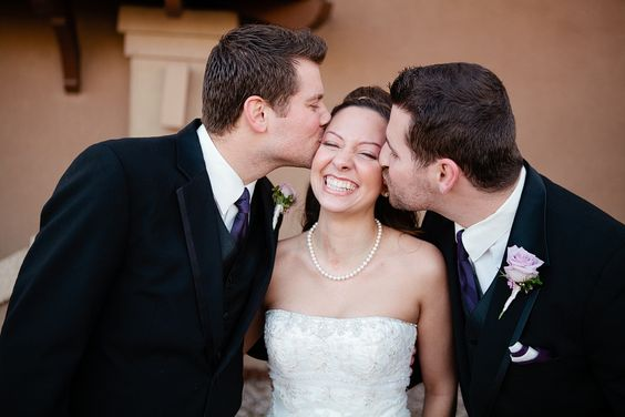 kisses from the brides brothers! :)