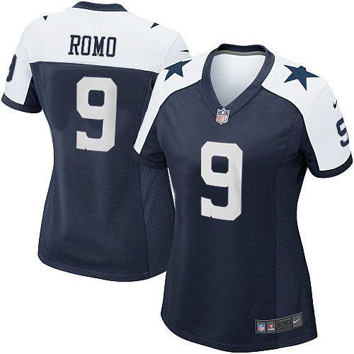 512e3f554 ... Tony Romo Womens Jersey Game Navy Blue Throwback Alternate Nike NFL  Dallas Cowboys Jersey on sale ...