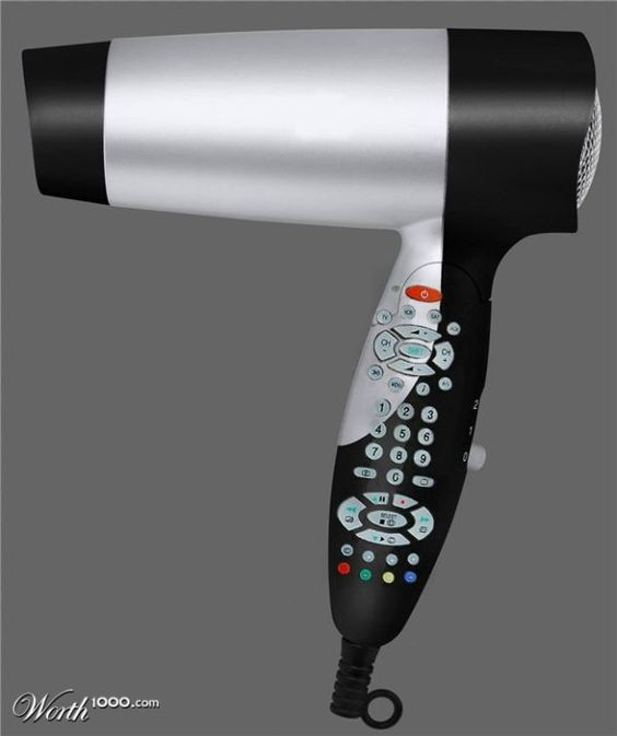 Amazing Hairdryer and Remote control combined! #Technology