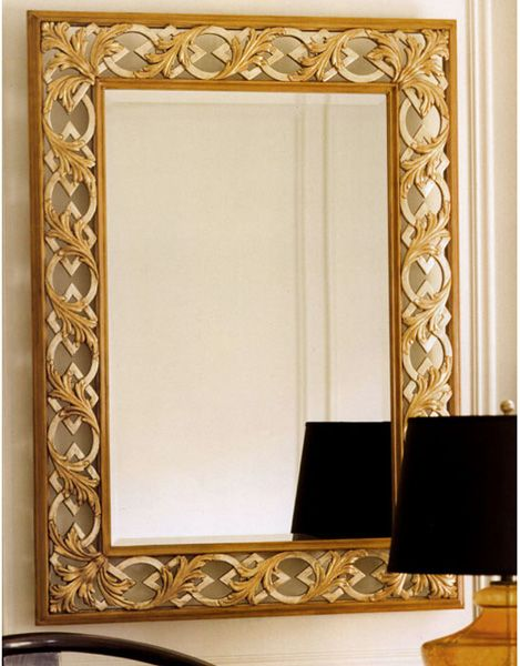 Neoclassic style carved wood rectangular wall mirror with openwork design gorgeous mirrors - Latest beautiful wall decoration ...