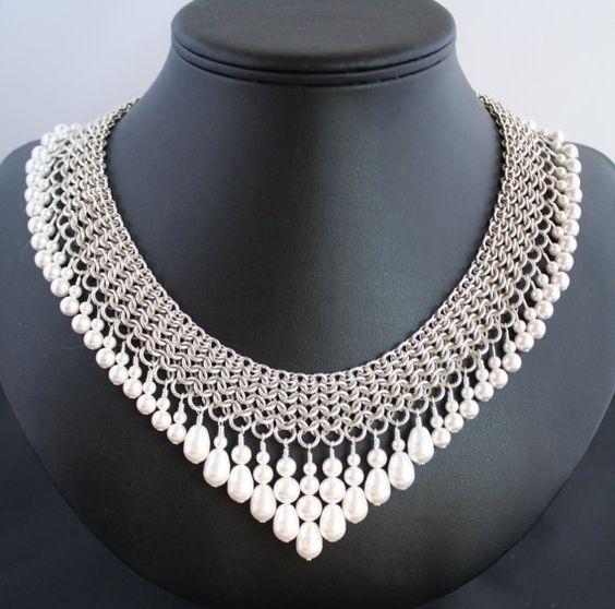 #chainmaille neckpiece