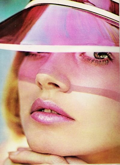 Cover Girl SuperGloss Frosted lipstick advertisement, August 1973.: