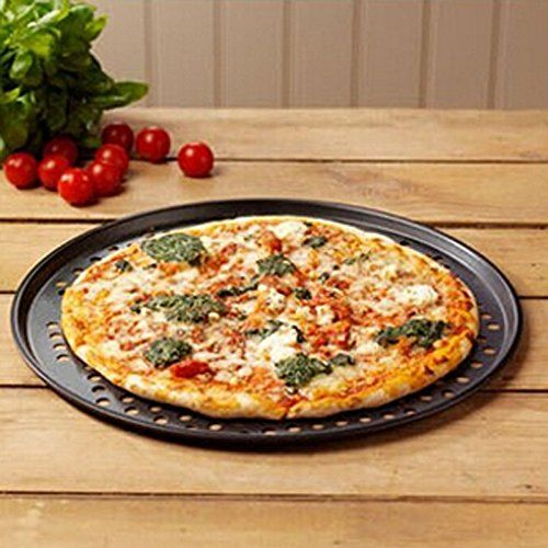 12 Round Pizza Crisper Seamless Rim Non Stick Mesh Hole Pizza Screen Baking Tray Cookware And Bakeware Tray Bakes Small Pizza